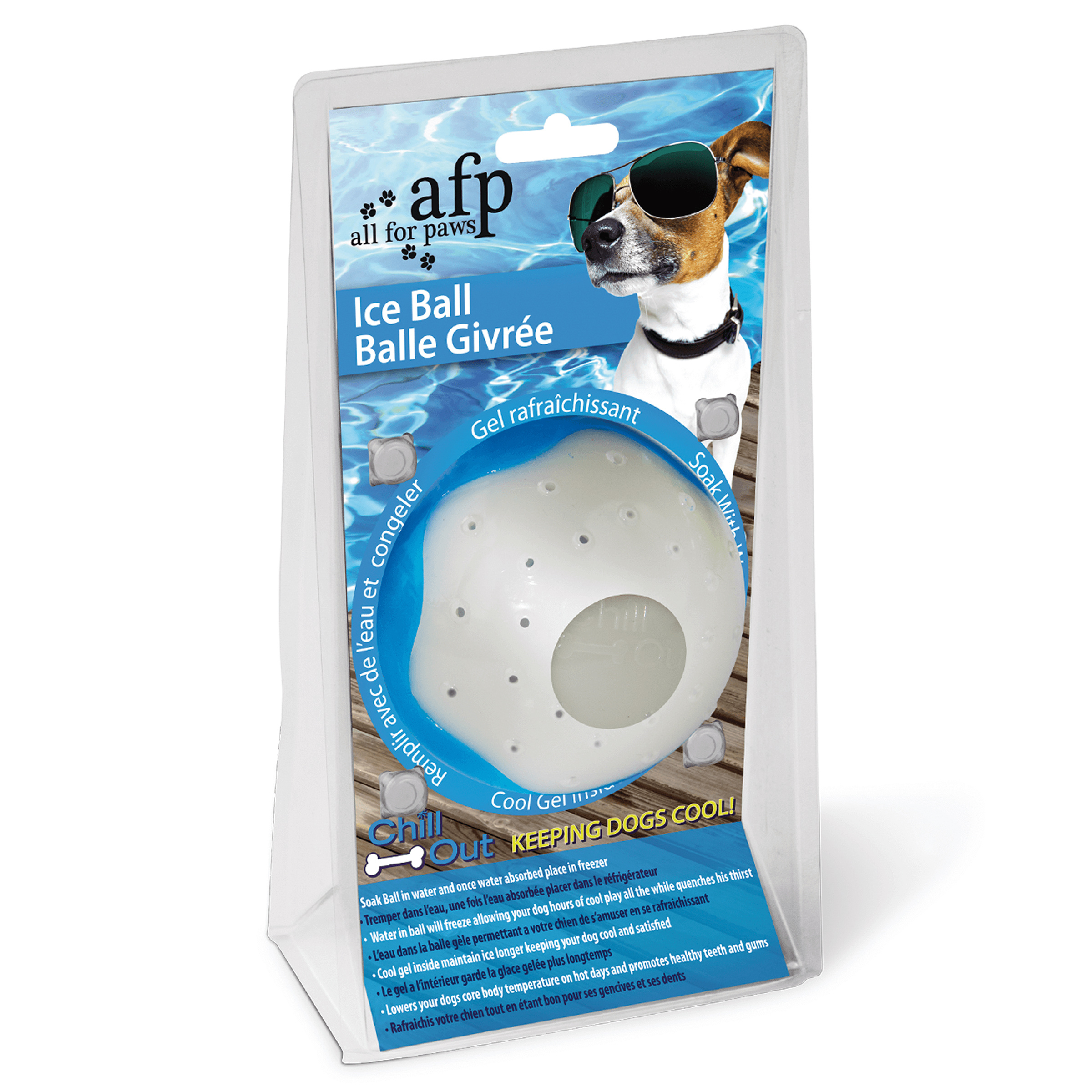 Image of All for Paws AFP Hundespielzeug Chill Out Eisball M - Wasserspielzeug mit Kühleffekt