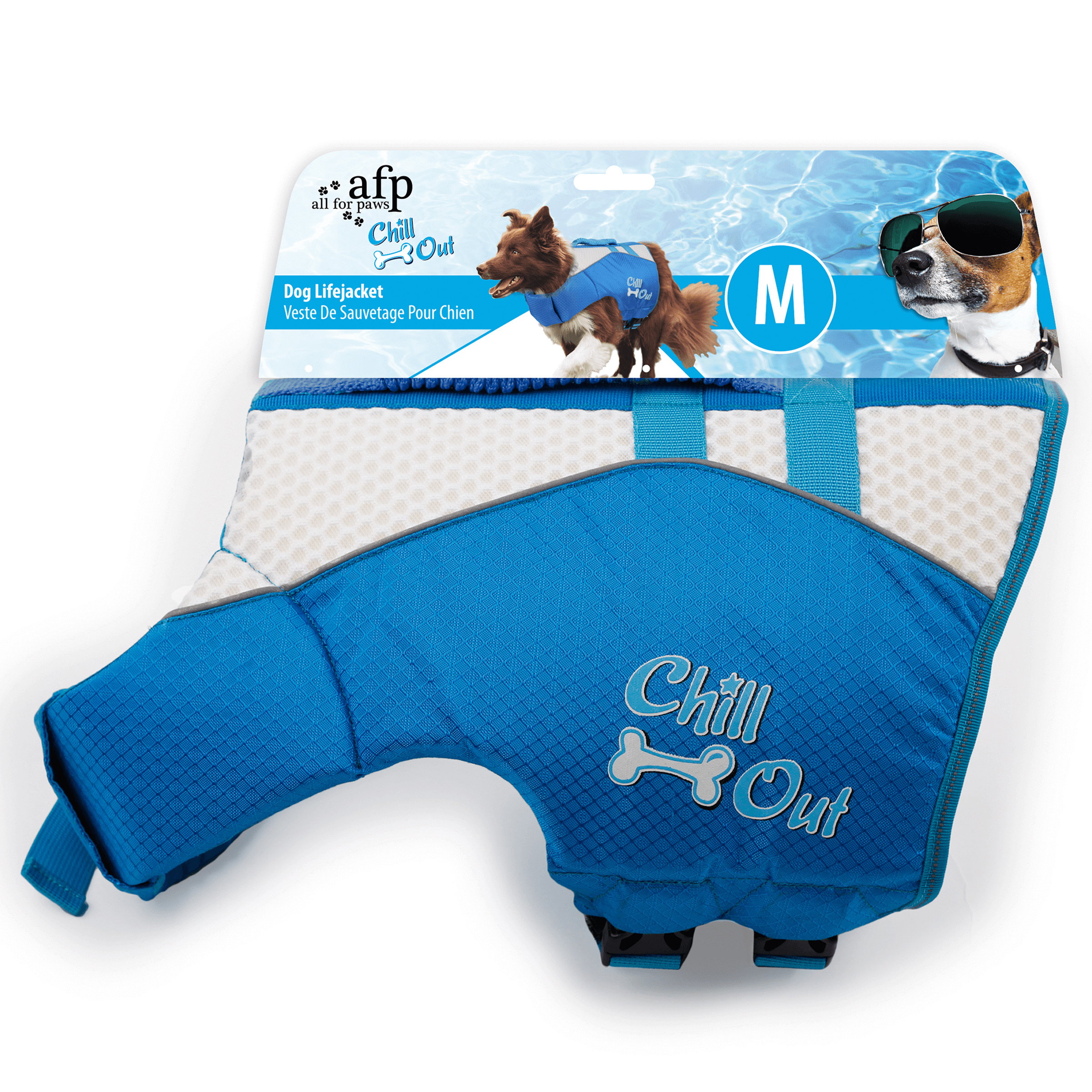 Image of All for Paws AFP Chill Out Schwimmweste Hund mit Griff M 25-39kg