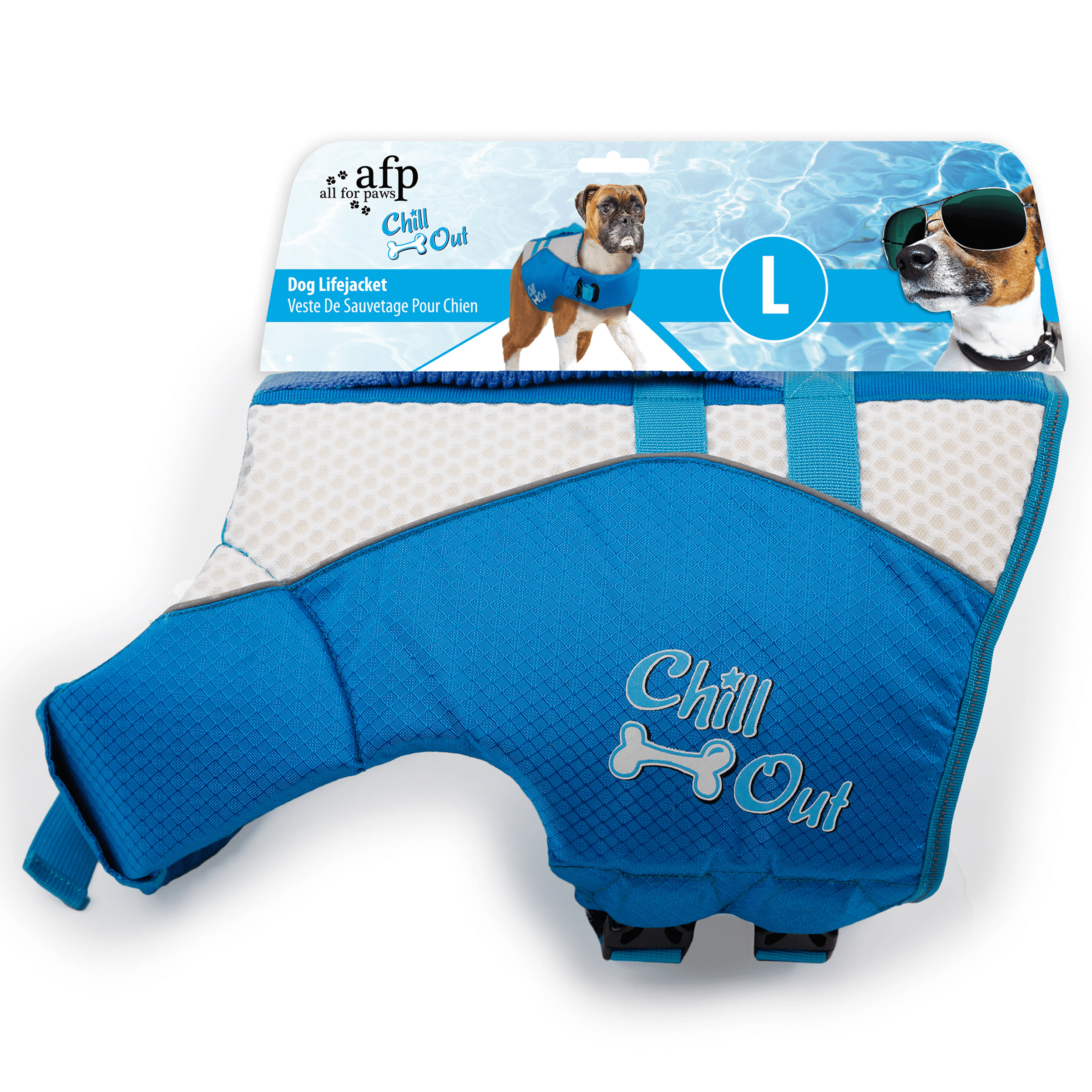 Image of All for Paws AFP Chill Out Schwimmweste Hund mit Griff L 39-45kg