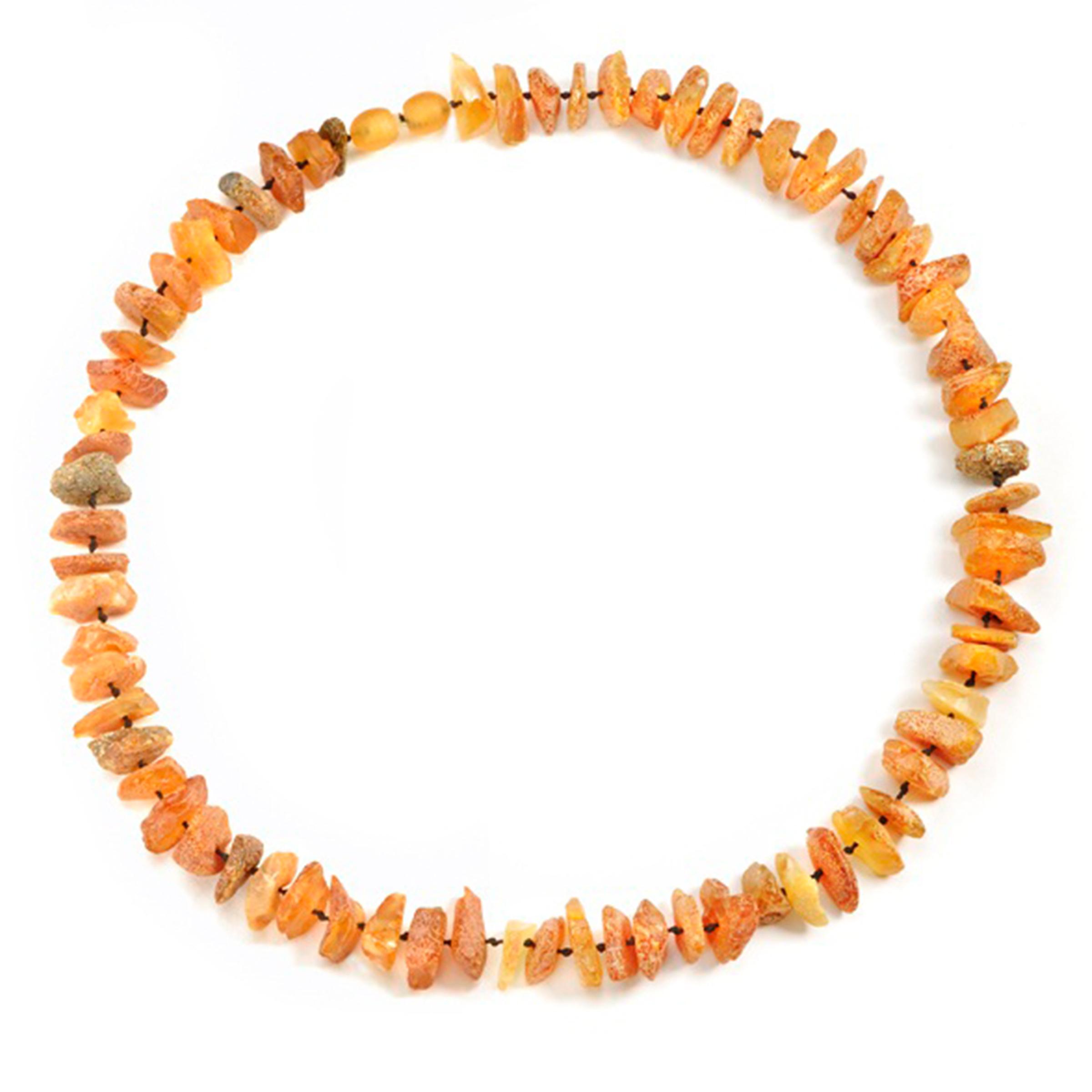 Image of Amberdog Bernsteinkette Sonne 34cm