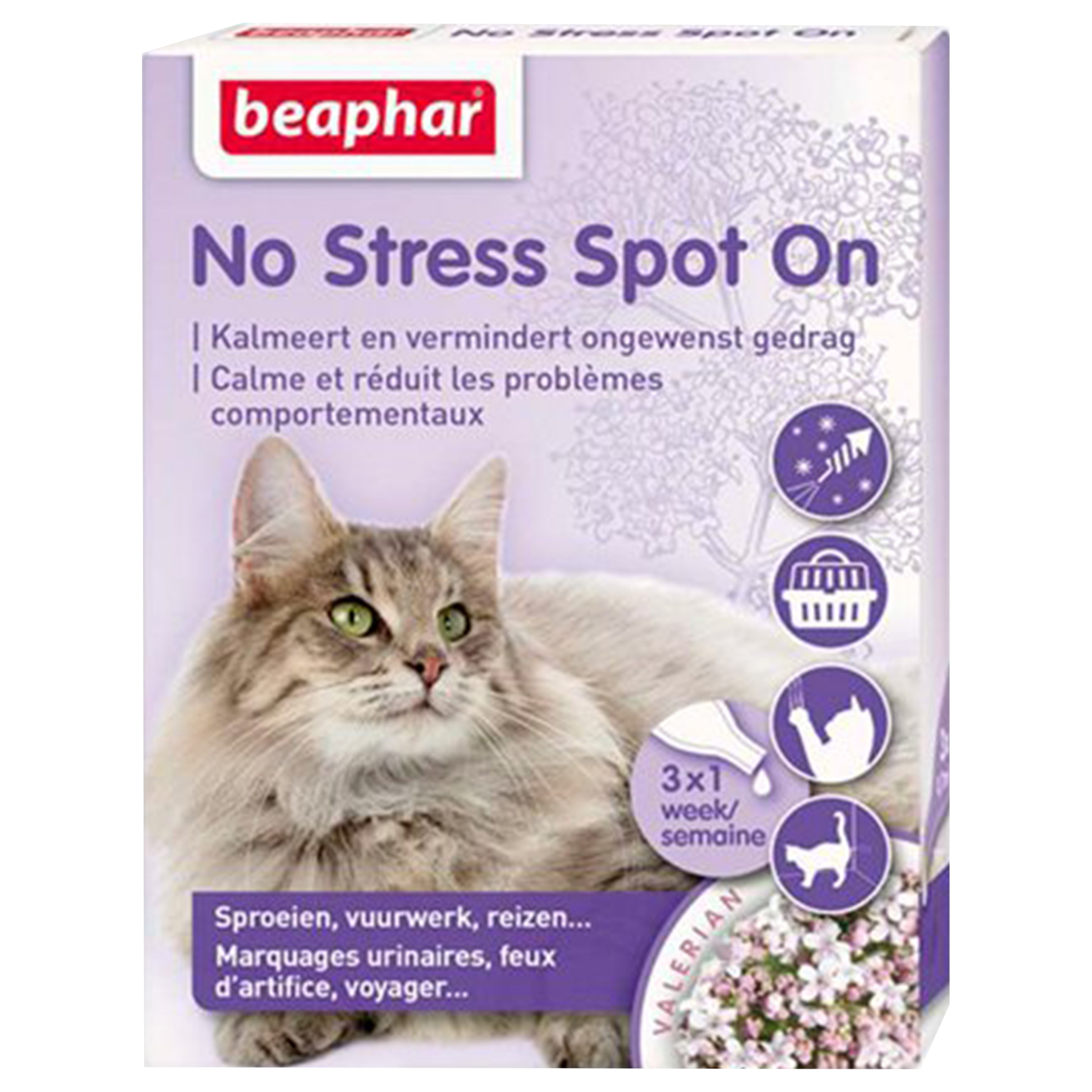 Image of beaphar No Stress Wohlfühl Spot On Katze F/NL