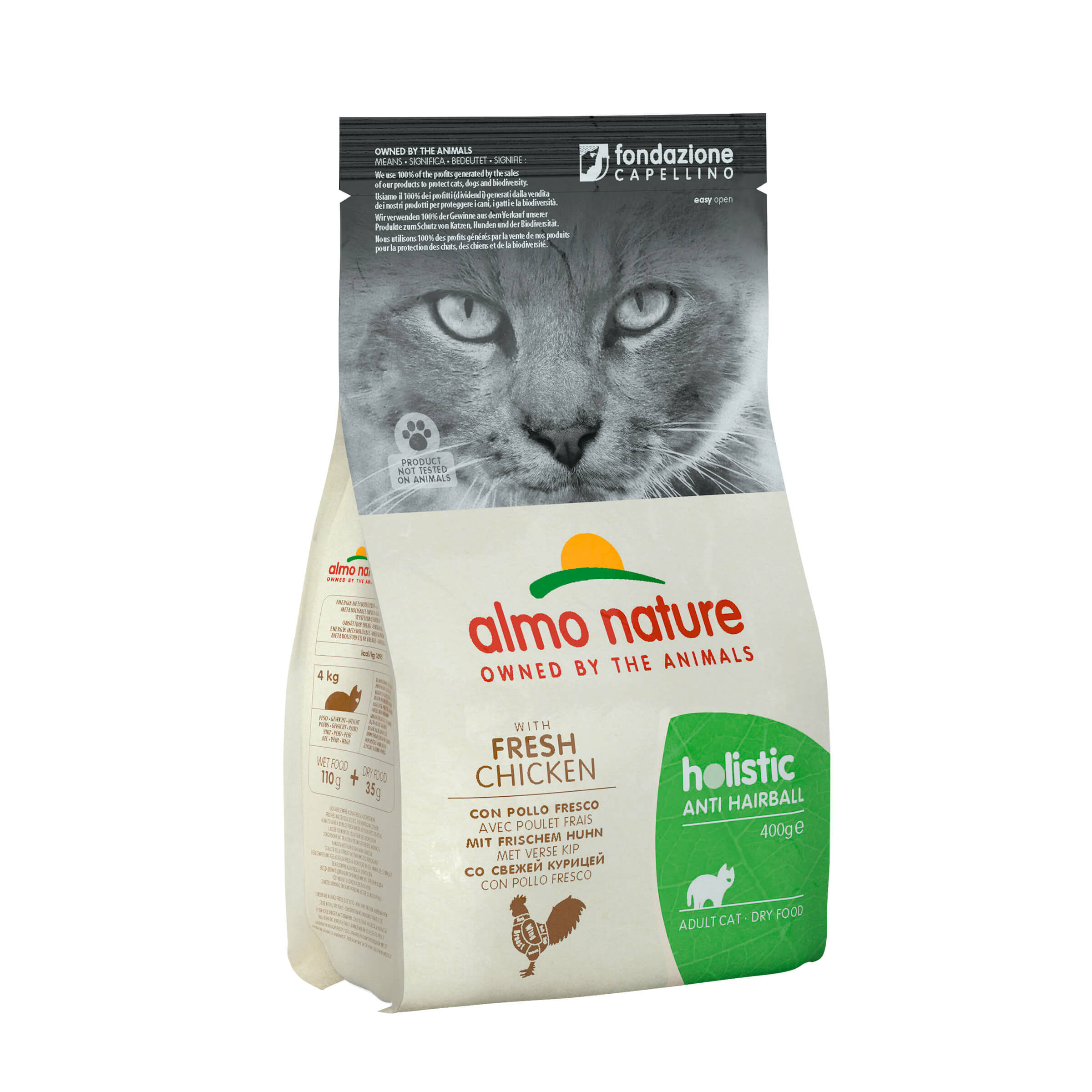 Image of Almo Nature FC Anti-Hairball Huhn & Reis 400g