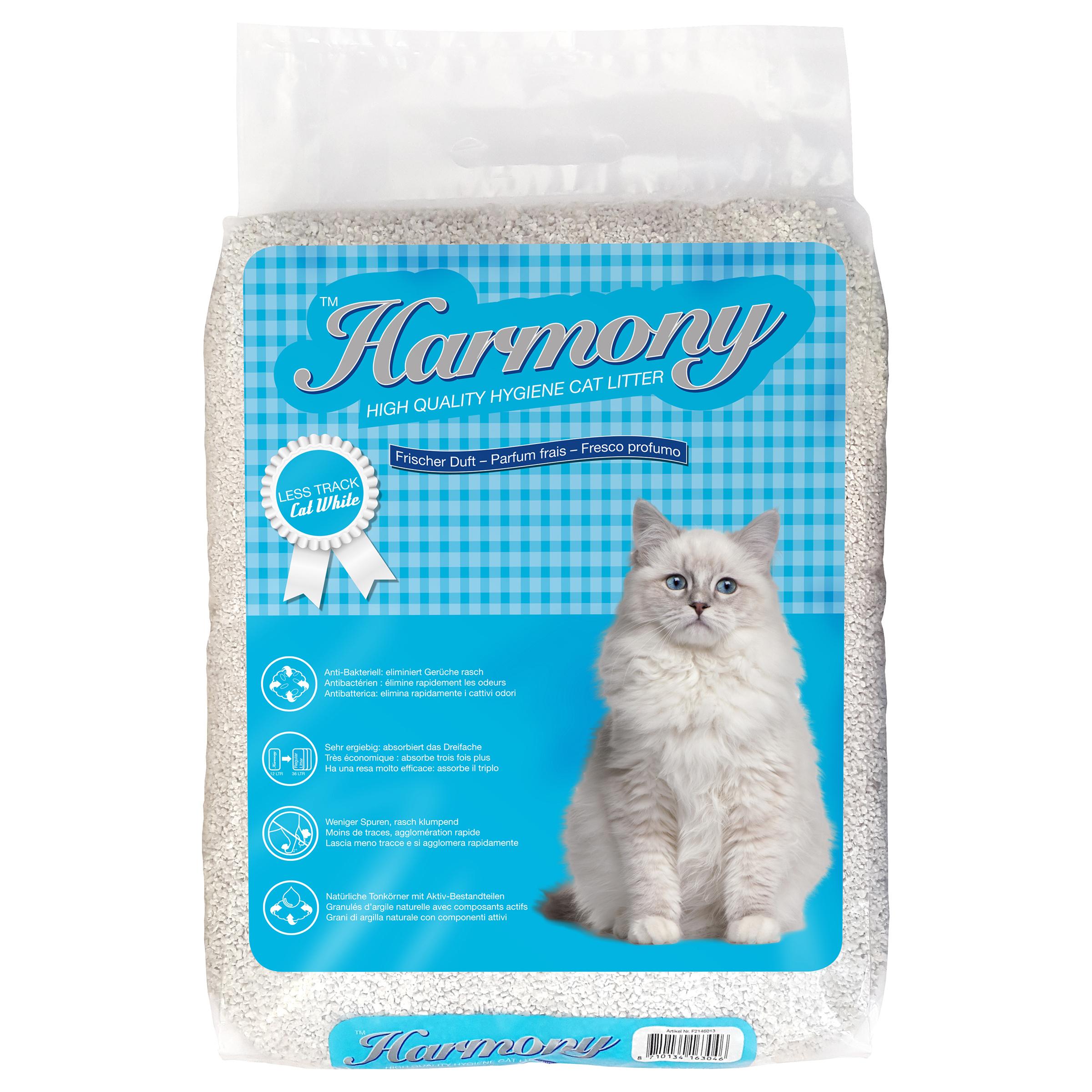 Harmony Litière Less Track Cat White 12l
