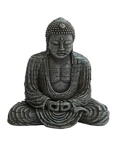 Deep Sea Aquariumdekoration Buddha silber 15.5x9.6x15.4cm