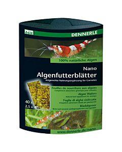 Dennerle Nano Feuille de nourriture aux algues 40 pièces