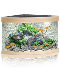 Juwel Aquarium Trigon 350 LED, helles Holz