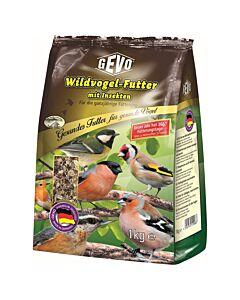 GEVO Nourriture pour oiseaux sauvages avec des insectes & chia 1kg