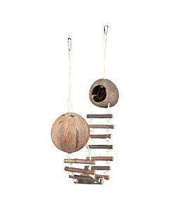 Trixie Maison noix de coco double pour souris & hamsters D=13cmx100cm
