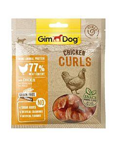 GimDog Snack pour chien Chicken Curls 55g