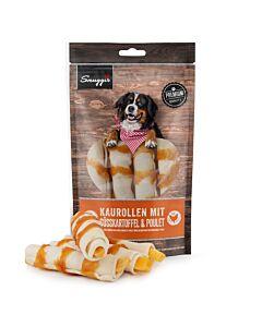 Snuggis Friandise pour chiens Rouleaux à mâcher avec patates douces & poulet 135g