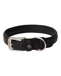 Rogz Hunde Lederhalsband schwarz S