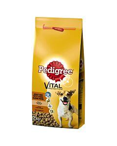 Pedigree Adult Kleine Hunde Vitalität mit Geflügel, Gemüse & Reis 2kg