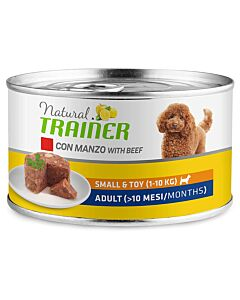 Trainer Hundefutter Natural Small & Toy Adult Beef 24x150g