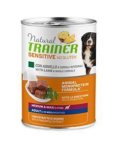Trainer Hundefutter Sensitive No Gluten Medium & Maxi Adult Lamm 400g