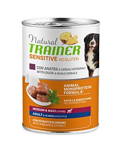 Trainer Hundefutter Sensitive No Gluten Medium&Maxi Adult Ente 400g