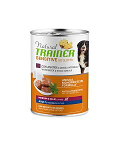 Trainer Hundefutter Sensitive No Gluten Medium & Maxi Adult Ente 12x400g
