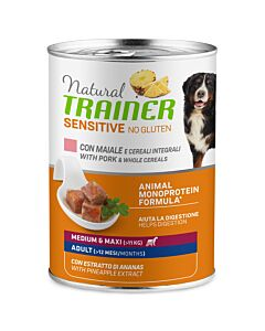 Trainer Hundefutter Sensitive No Gluten Medium & Maxi Adult Schwein 400g