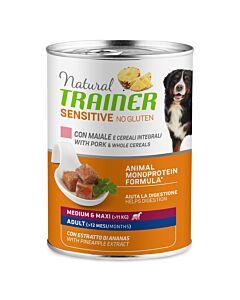 Trainer Hundefutter Sensitive No Gluten Medium & Maxi Adult Schwein 12x400g