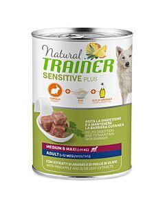 Trainer Hundefutter Sensitive Plus Medium & Maxi Adult Kaninchen 12x400g