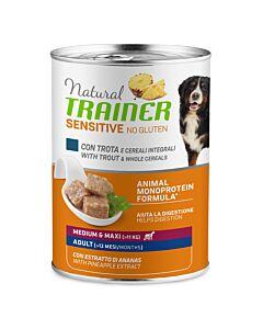 Trainer Hundefutter Sensitive Plus Medium & Maxi Adult Forelle 12x400g