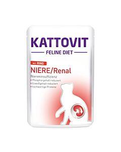 Kattovit Niere / Renal mit Rind 24x85g Pouch