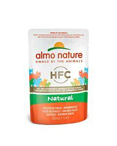 Almo Nature Katzenfutter HFC Natural Hühnerfilet Beutel 55g