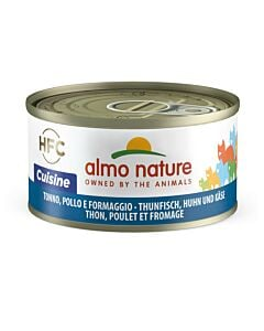Almo Nature Chat Thon, Poulet & Fromage 24x70g