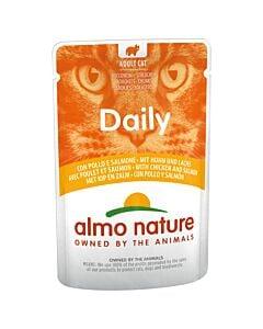 Almo Nature Daily Cat avec Poulet & Saumon 70g