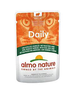 Almo Nature Daily Menu avec Veau & Agneau 70g