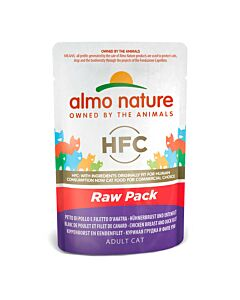 Almo Nature HFC Raw Pack Hühnerbrust &Entenfilet 55g