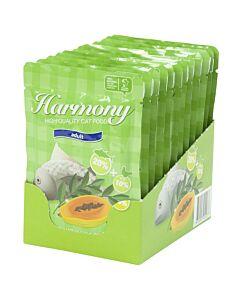 Harmony Cat Thunfisch mit Huhn & Früchten Karton (12x80g)