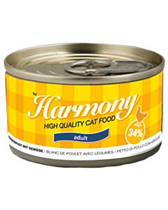 Harmony Cat Boîte Blanc de Poulet avec Légumes 80g