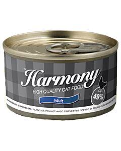 Harmony Cat Boîte Blanc de Poulet avec Crevettes 80g