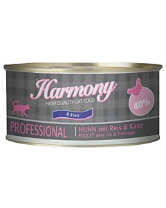 Harmony Cat Professional Kitten Poulet, Riz & Fromage 75g