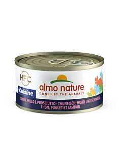 Almo Nature HFC Cuisine Cat Thunfisch, Huhn & Schinken 24x70g