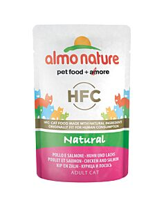 Almo Nature Katzenfutter HFC Natural Huhn & Lachs Beutel 55g