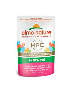 Almo nature HFC Natural Huhn&Lachs 24x55g