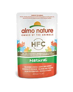 Almo Nature Katzenfutter HFC Natural Lachs mit Kürbis Beutel 24x55g