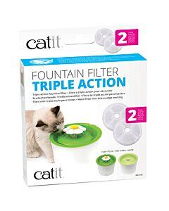 Catit Triple Action Ersatzfilter zu Flower Fountain Trinkbrunnen 2 Stk.