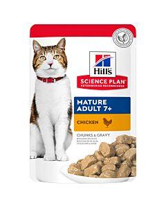 Hill's Katze Science Plan Mature Adult 7+ Nassfutter Huhn 12x85g