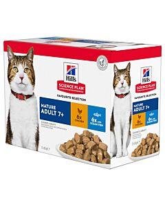Hill's Science Plan Feline Senior Mixed Multipack 12x85g
