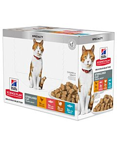 Hill's Katze Science Plan Young Adult Sterilised Cat Nassfutter Multipack 4x12x85g