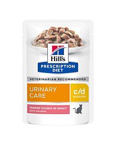 Hill's Prescription Diet Feline c/d Multicare Urinary Lachs 12x85g