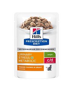 Hill's VET Katze Prescription Diet Metabolic & Urinary Stress Huhn 12x85g