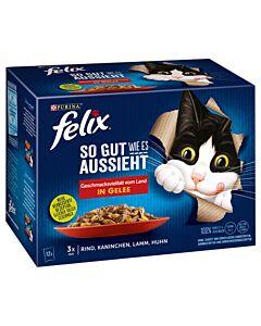 Felix So gut wie es aussieht Fleischauswahl in Gelee 12x100g