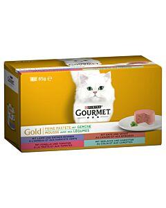 Gourmet Gold Pastete 12x4x85g Ente+Spin