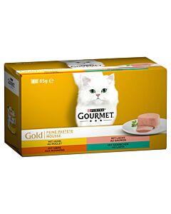 Gourmet Gold Feine Pastete mit Huhn 4x85g