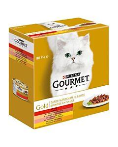 Gourmet Gold Zarte Häppchen in Sauce 8x85g
