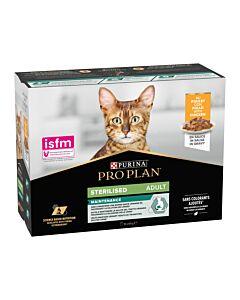Pro Plan Cat Nutrisavour Sterilised Huhn (4x10x85g)