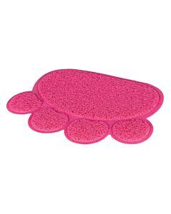 Trixie Vorlegematte Pfote PVC pink